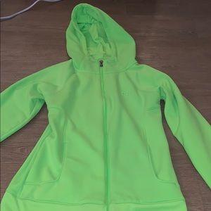 Under Armour neon green zip up